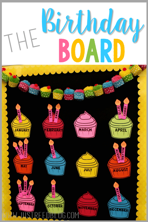 Classroom Decor Primary Colors ~ The best birthday board just reed