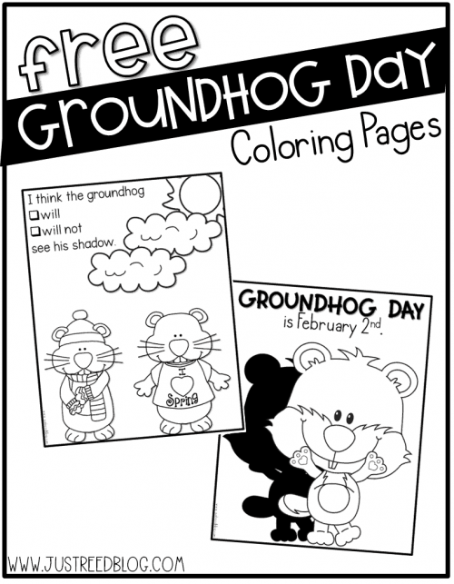 4 adorable Groundhog Day coloring pages for kids | 643x500