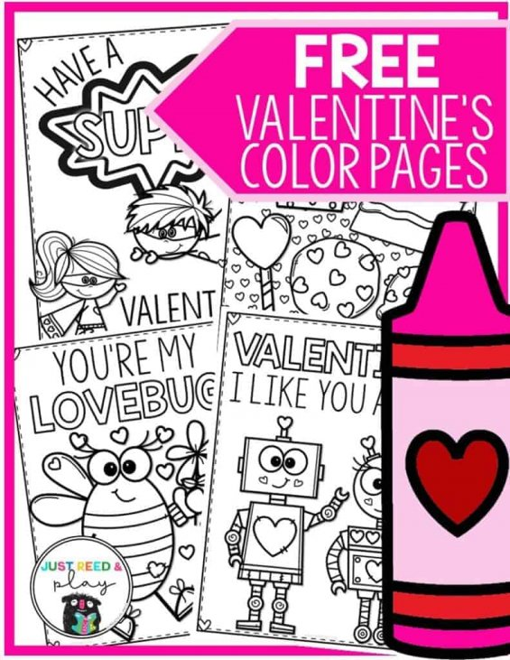 - 4 FREE Valentine's Day Coloring Pages You'll LOVE - Just Reed & Play