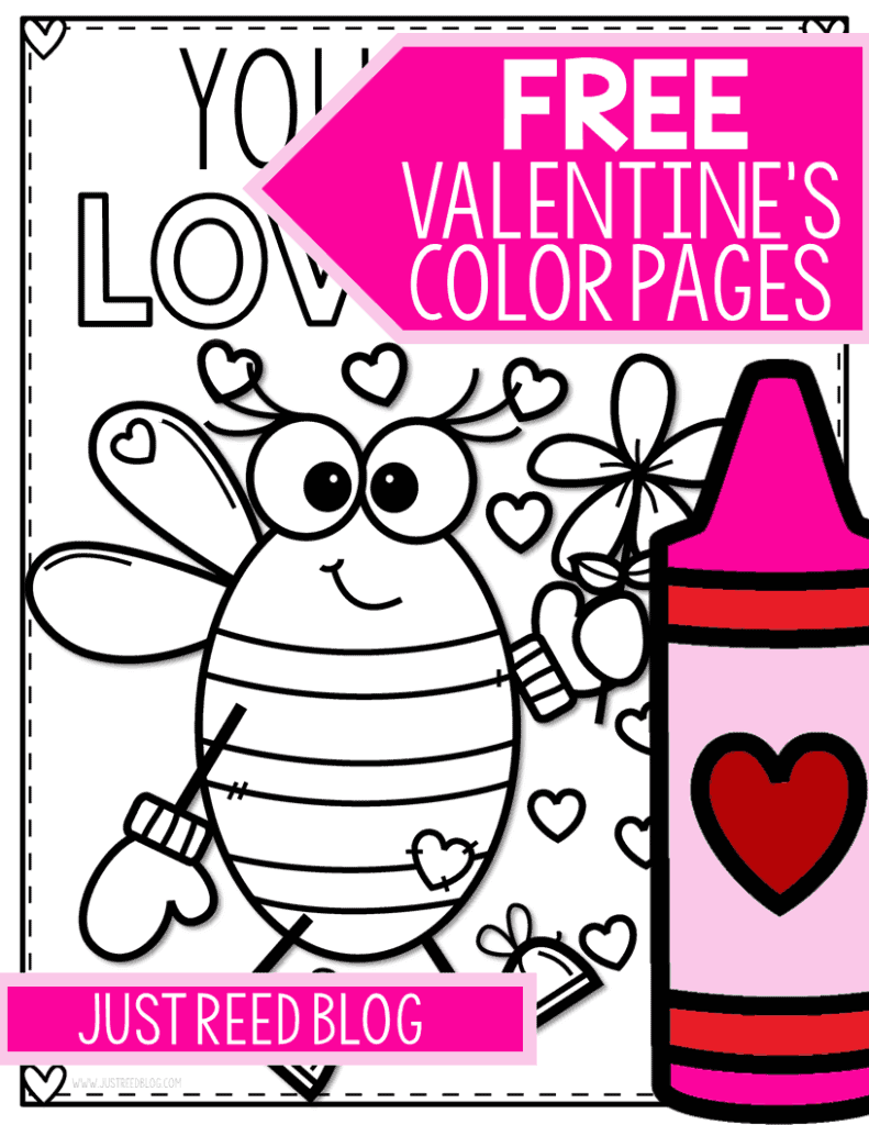 4 FREE Valentine's Day Coloring Pages You'll LOVE - Just ...