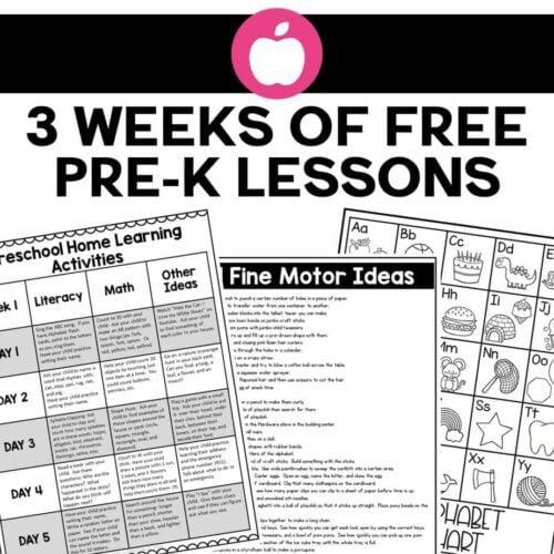 Preschool Home Learning Activities - 3 Weeks of FREE Plans ...